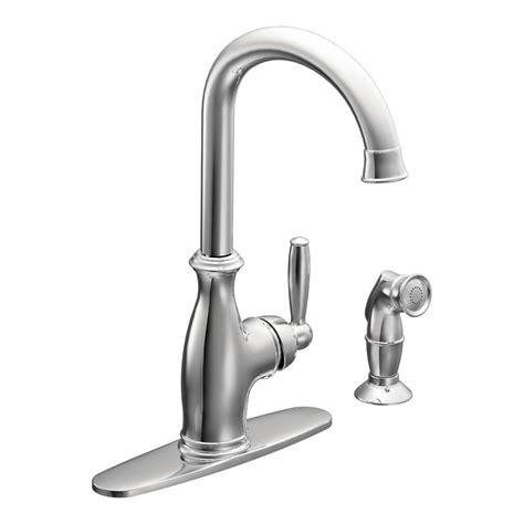 brantford kitchen faucet moen brantford high arc single handle standard kitchen faucet with side sprayer in chrome 7735