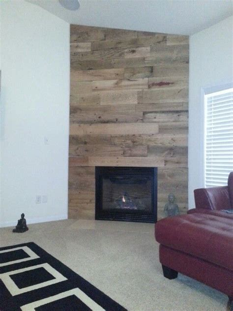 25 best ideas about reclaimed wood fireplace on