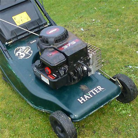 hayter hawk  push lawn mower briggs stratton sprint  engine lawnmowers shop