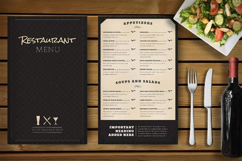 Menu Design Mockup | 34 restaurant menu templates free sle exle