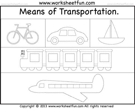 printable tracing color words modes of transportation wfun trace 1 png 1810 215 1462