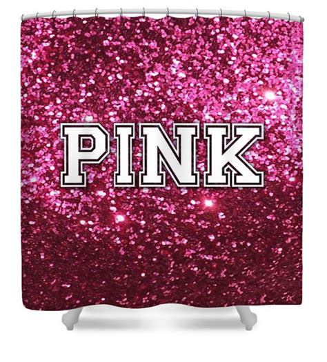 pink shower curtain set victoria secret like shower curtain pink bathroom by