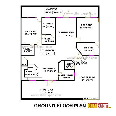 house plan for 60 by 50 plot plot size 333