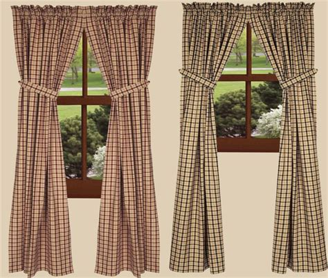two color curtain panels salem check curtain panels in 2 colors