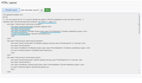html layout span rsform pro form layout