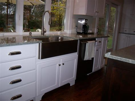 stainless steel apron sink white cabinets stainless apron sink to a bowl the homy design