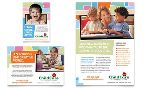templates for ads preschool day care flyer ad template design