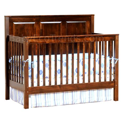 Amish Baby Cribs by Amish Quincy Panel 4 In 1 Convertible Baby Crib American