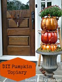 How To Decorate My Home For Christmas fall porch amp diy pumpkin topiaries kelly elko