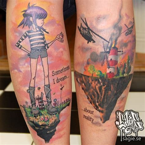 gorillaz tattoo designs 69 best images about gorillaz on