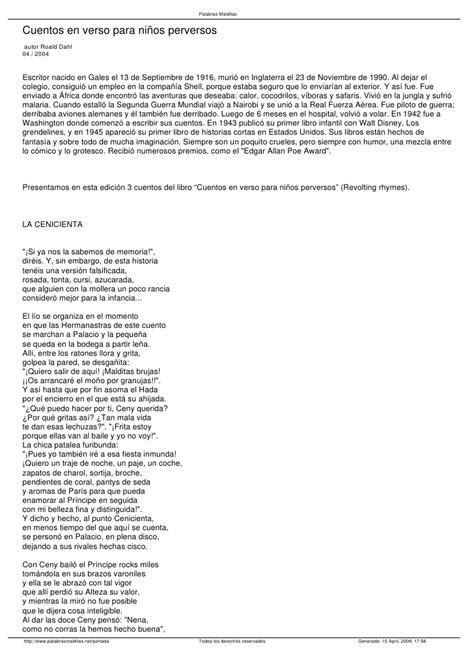 Libro Cuentos En Verso Para Niños Perversos PDF ePub