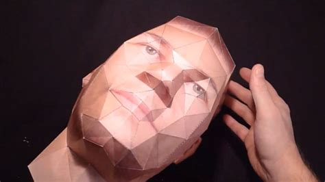 How To Make A Human Out Of Paper - paper kit helps you turn portrait photos into 3d paper heads