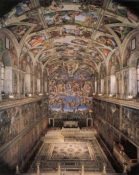 Michelangelo And The Sistine Chapel Ceiling by Sistine Chapel Ceiling And Altar Wall Frescoes Vatican