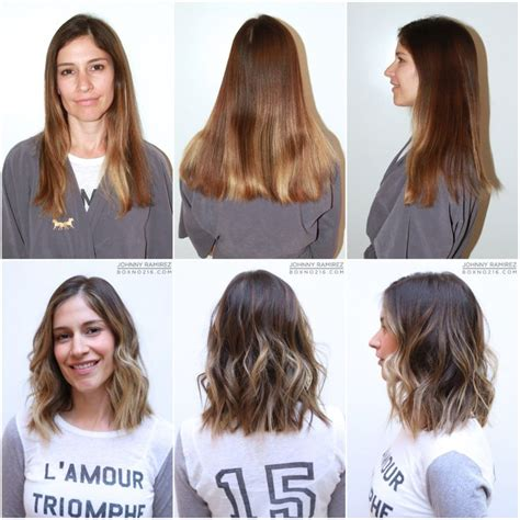 wavy long bob before and after pic 279 best haircuts and color before and after images on