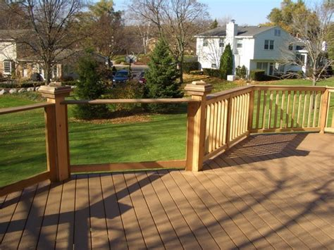 Glass Patio Railing Systems by Deck Railing Glass Systems Deck Milwaukee By