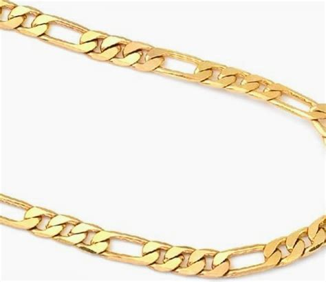 cadenas de oro figaro cadena de oro 14 italiana tejido figaro nueva 60cm