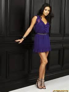 Shay mitchell pretty summer flower purple sleeveless mini dress