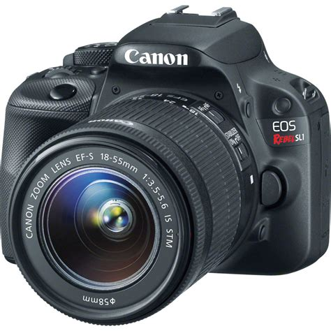 canon dslr canon eos rebel sl1 dslr with 18 55mm lens 8575b003 b h