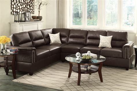 bonded leather sectional with chaise espresso bonded leather reversible chaise sectional sofa