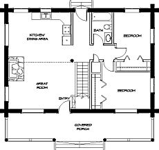 Hunting Cabin House Plans by Small Cabin Floor Plans Cozy Compact And