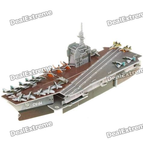 How To Make A Paper Aircraft Carrier - intellectual development diy 3d paper puzzle set