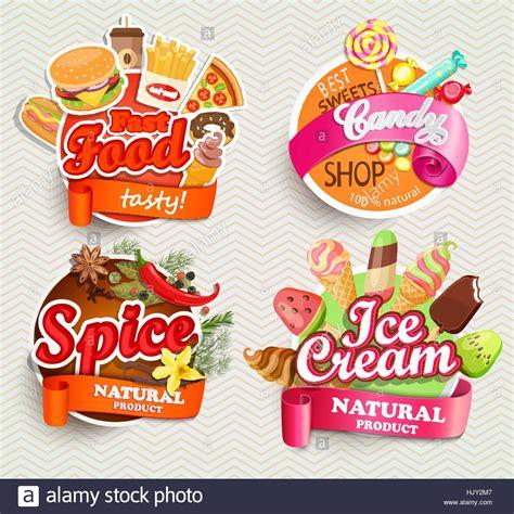 design label sticker food and drink elements typographical design label or