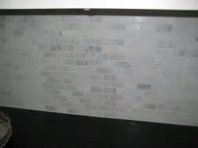 Marble Subway Tile Kitchen Backsplash - subway tile