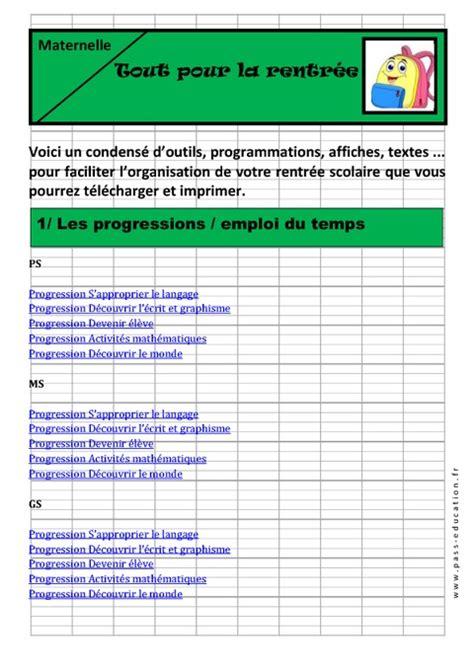 Langage C Calendrier Tout Pour La Rentr 233 E Maternelle Moyenne Et