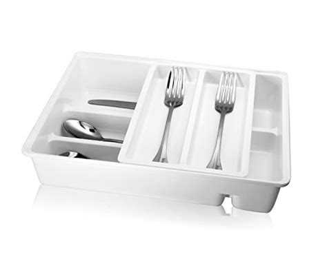 Two Tier Cutlery Tray Drawer Inserts by Hiware Tiered Cutlery Tray Drawer Insert Plastic