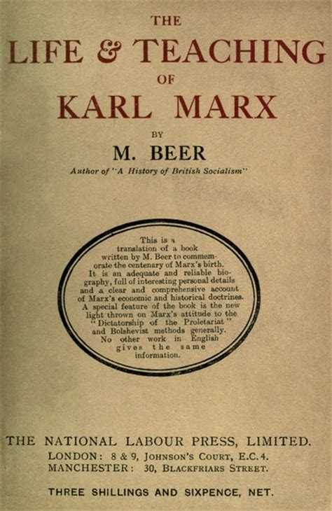 Book Review Me By Carey Marx by Book Review The And Teaching Of Karl Marx The