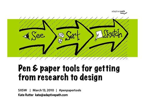Tools For Writing A Research Paper by Pen Paper Tools For Getting From Research To Design
