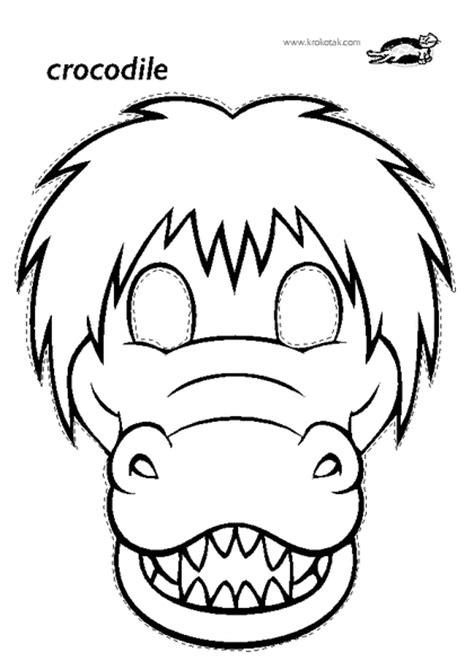 printable crocodile mask krokotak print printables for kids