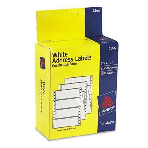 printing address labels on pages avery dot matrix printer address labels ave4146
