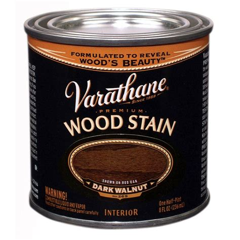 Varathane Wood Finish Interior by Varathane 1 2 Pt Walnut Wood Stain 266198 The Home