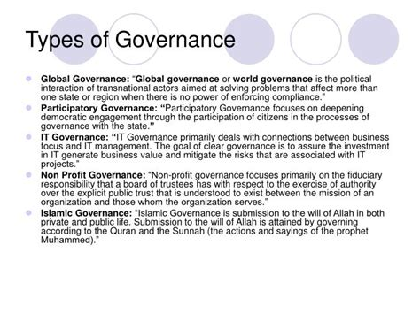 world bank definition of governance ppt governance in non profit organizations powerpoint