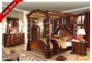 Cherry Wood Canopy Bedroom Set Castillo De Cullera Canopy Bedroom Collection Cherry