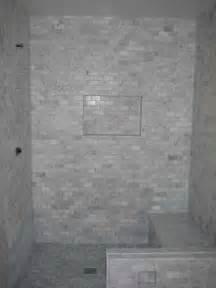 marble subway tile bathroom bathroom