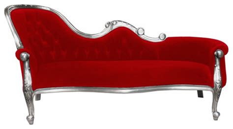 red chaise lounge chair french moulin silver chaise longue in chilli red modern