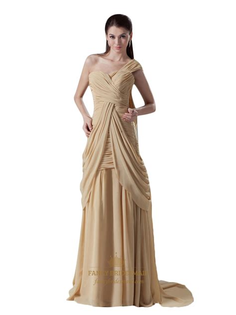 gold draped dress gold sheath one shoulder sweetheart neckline draped