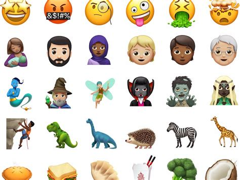 all 69 emoji coming this fall in ios 11 1 business insider