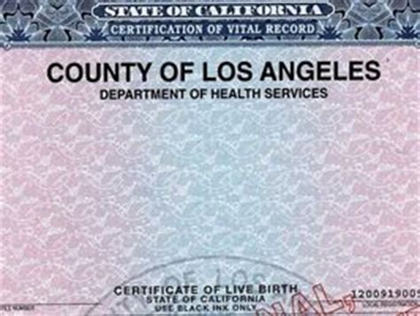 Washington Vital Records Birth Certificate Los Angeles California Dept Of Vital Records And Birth Certificates Nadya Suleman