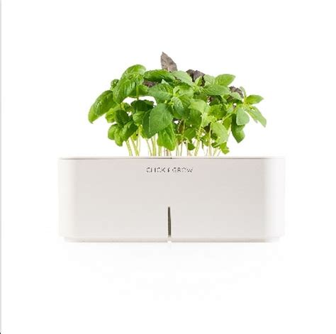 click and grow garden reinventing indoor gardening click and grow electronic flowerpots freshome