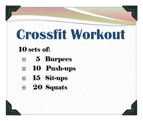 25 best ideas about crossfit workouts at home on