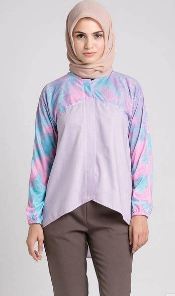 inspirasi desain baju batik inspirasi model baju muslim wanita warna ungu batik keris