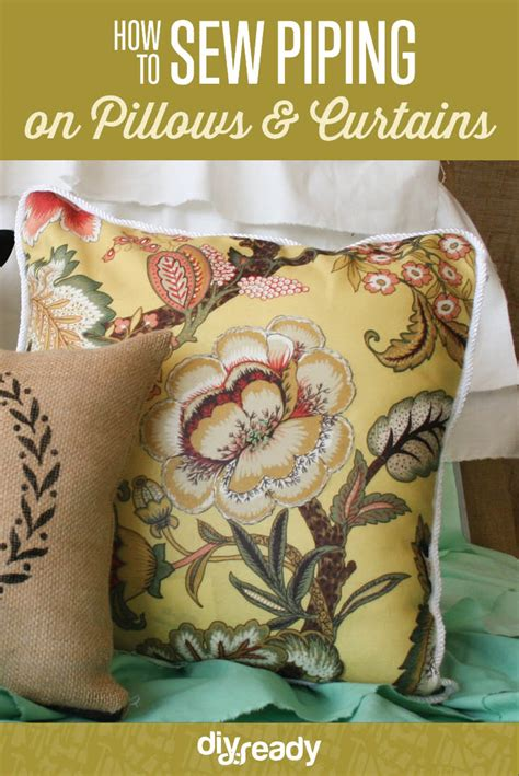 how to sew piping on pillows and curtains diy projects