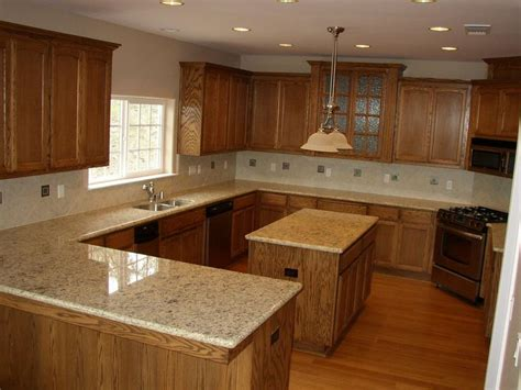 Countertops For Oak Cabinets by 37 Best Granite Countertops With Oak Cabinets Images On