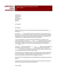 Cover Letter For Civil Engineer by Sle Engineering Cover Letter 7 Exles In Pdf