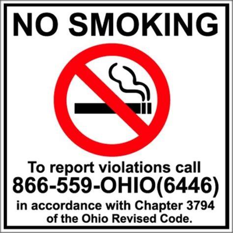 printable no smoking sign ohio ohio supreme court rules smoking ban constitutional