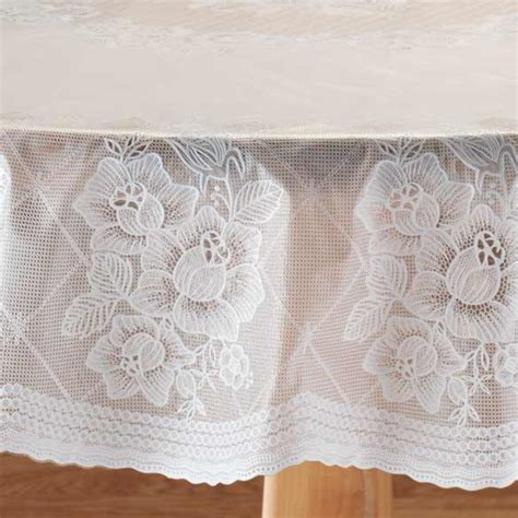 Floral Vinyl Lace Table Cover Floral Table Cover