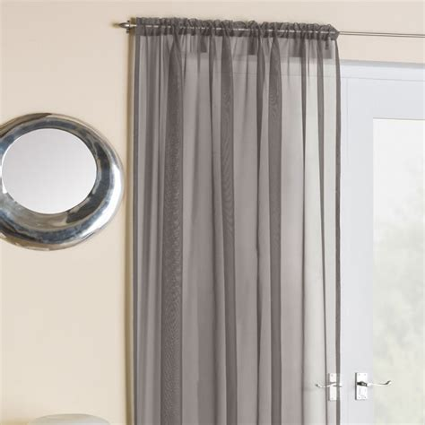 Silver Grey Voile Net Curtain Panel Tony S Textiles